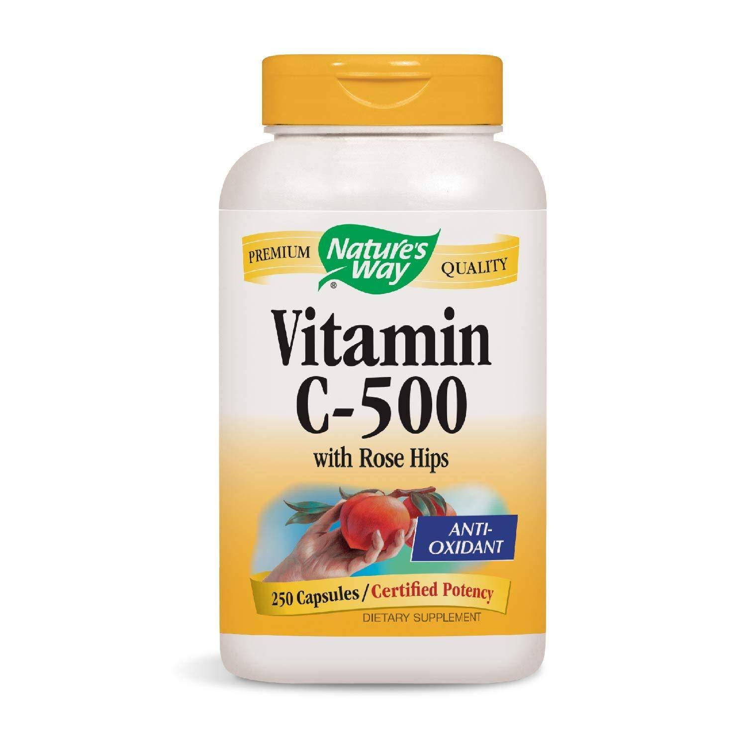 Nature's Way Vitamin C 500 with Rose Hips - 250 Capsules