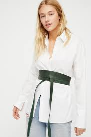 ada collection leather obi belt at free people clothing boutique