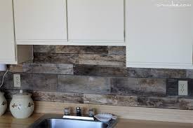 Wood Pallet Kitchen Backsplash
