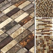 details zu mosaikfliesen glas marmor lambada braun beige für wand küche bad badezimmer wc
