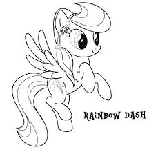 Rainbow Dash Coloring Page Print Pages Mlp