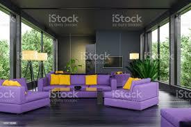 hell erleuchteten fehlen moderne wohnzimmer interieur mit spiegel über die ganze wand stockfoto und mehr bilder architektur