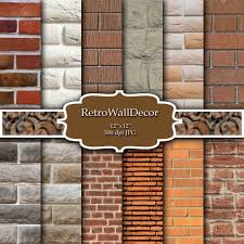 Rustic Brick Digital Paper Vintage Walls Wall Texture Grunge Background Backdrop Buy 2 Get 1 FREE From RetroWallDecor On Etsy