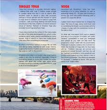 Singles Yoga London In Magazine