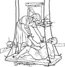 Jesus Healed The Paralytic Coloring Page