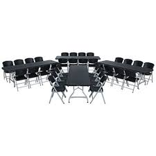 lifetime combo four 8 commercial grade folding tables and 32