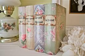 Vintage WallPaper Covered Books