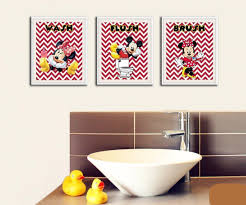Mickey And Minnie Mouse Bath Decor by Amazon Com Minnie And Mickey Mouse Wash Brush Flush Prints For