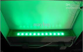 ac 24v led wall wash flood light green bar l 12w waterproof