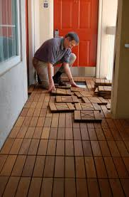 how to install handydeck interlocking patio tiles