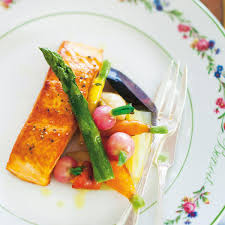 recette pavé de saumon légumes de joël thiébault cuisine