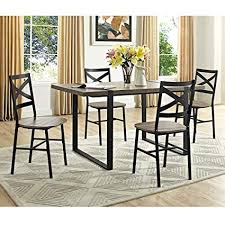 WE Furniture 60quot Urban Blend Wood Dining Table