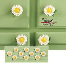 10 Daisy Kitchen Drawer Pulls Country Decor