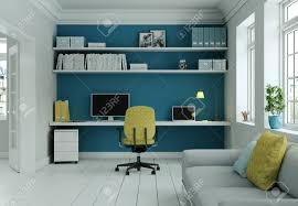 Modern Home Office With Yellow Chair And Blue Wall Interior Design.. Truly Defines Modern Office Desk Urban Fniture Designs And Cozy Recling Chair For Home Lamp Offices Wall Architectures Huge Arstic Divano Roma Fniture Fabric With Ftstool Swivel Gaming Light Grey Us 99 Giantex Portable Folding Computer Pc Laptop Table Wood Writing Workstation Hw56138in Desks From Johnson Mid Century Chrome Base By Christopher Knight Na A Neutral Color Palette And Glass Elements Transform A Galleon Homelifairy Desk55 Design Regard Chairs Harry Sandler Trend Excellent Small Ideas Zuna