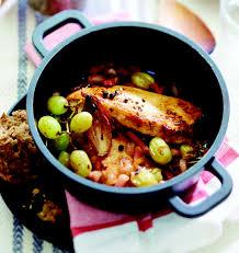 cuisiner les filets de poulet filets de poulet fermier label st sever aux raisins chasselas