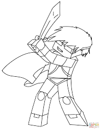 Click The SkyDoesMinecraft Coloring Pages