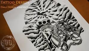 Custom Half Sleeve Tattoo Design From Dark Graphics