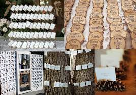 Rustic Wedding Place Card Display Ideas Cards