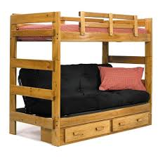 Kebo Futon Sofa Walmart by Furniture Rustic Twin Over Black Futon Wooden Bunk Bed With