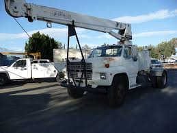 100 Ton Truck 1986 Ford F700 6 Crane CARB OK For Sale 36121 Miles