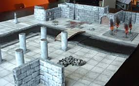 3d Printed Dungeon Tiles by Game On The Cheep Papercraft Terrain