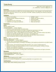 Objective For Resume Welder Welding Inspector Samples And Brilliant