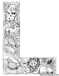 Colouring Pages For Adults Of Animals Letters