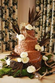 Chocolate Grooms Cake With Antlers