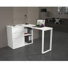 bureau 130 cm livio bureau angle 130x76x90 cm blanc achat vente bureau livio