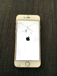 Cracked Iphone 6 Plus Screen 6 Rose Gold Cracked Screen In 6 Rose