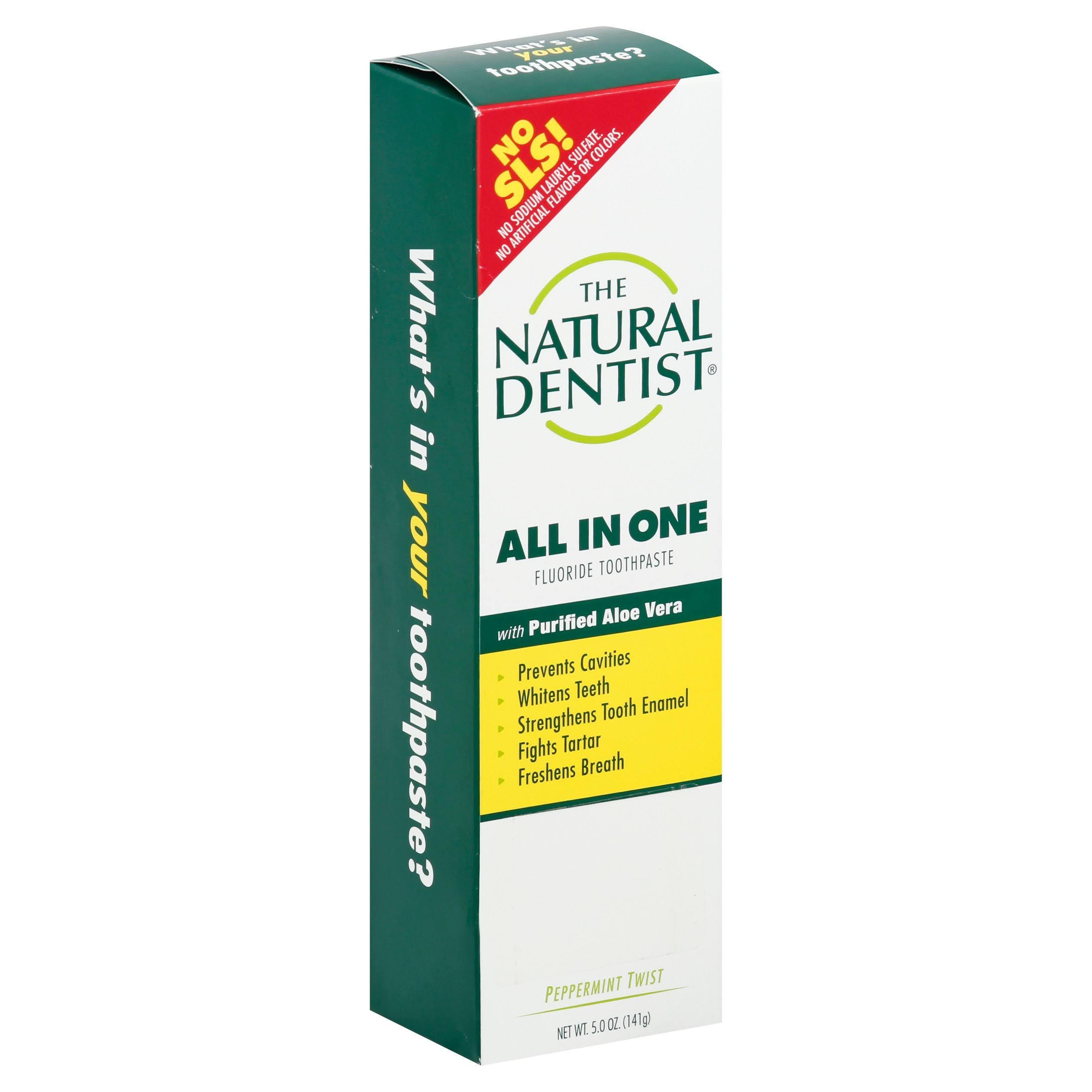 The Natural Dentist Healthy Teeth and Gums Natural Fluoride Toothpaste - Peppermint Twist, 5oz