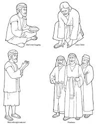 Blind Bartimaeus Coloring Page 19 New Jesus Heals The Colouring Pages