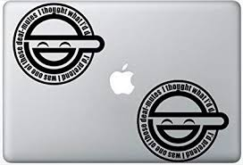 Ghost In The Shell Decal Laughing Man Logo FlashDecals3330 Set Of Two 2x