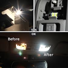 9 pieces for ford mustang 1994 2004 car led interior light bulbs