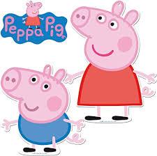 2 große pappschilder peppa pig als wanddeko für kindergeburtstag und mottoparty wutz kinderparty mitgebsel deko figuren
