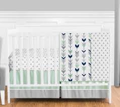 Sweet Jojo Designs Crib Bedding by Gris Como Nueva Azul Marino Rústico Woodland Flecha Bumperless