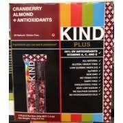 Kind Plus Cranberry Almond Antioxidants Bar Nutrition