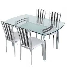 MS Chrome Plated Dining Table Set