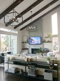 100 Image Of Modern Living Room Design With Beams Faux Wood Workshop