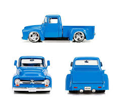 100 Just Trucks Series 1956 Ford F100 Pick Up Blue 124 Scale