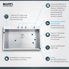 Stainless Steel Sink Grid Without Hole by Ruvati Rvh8001 Drop In Overmount 33