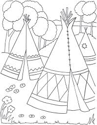 Indian Coloring Pages Village