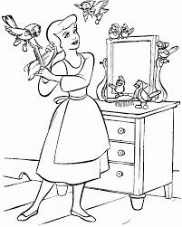 Cinderella Princess Coloring Pages 6450 Disney Book Res