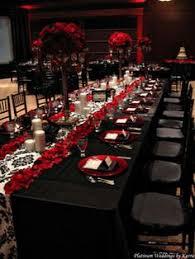 Black Red White Wedding