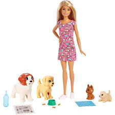 Amazoncom Barbie Doggy Daycare Doll Pets Toys Games