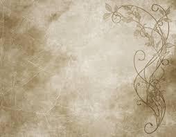 Old Paper Floral Parchment Background