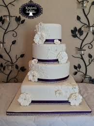 4 Tier Round And Square Wedding Cake Purple Bling On Central