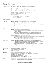 Server Resume Templates Frightening Job Description Trainer Resumes