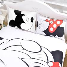 Mickey Mouse Queen Size Bedding by Mickey Mouse Bedding Set Cartoon Kids Favorite Home Textiles Plain
