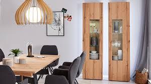 interliving wohnzimmer serie 2103 vitrine 560720 mattweißer lack asteiche eine tür links höhe ca 207 cm